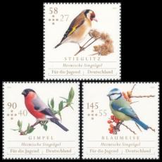 FRG MiNo. 3023-3025 set ** Youth 2013: Native songbirds, MNH
