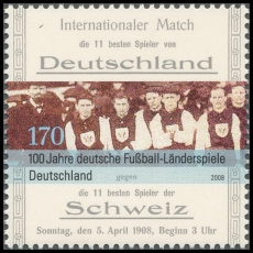 FRG MiNo. 2659 ** 100 years German international football matches, MNH