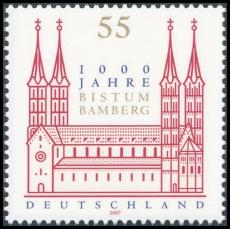 FRG MiNo. 2579 ** 1000 years Diocese of Bamberg, MNH