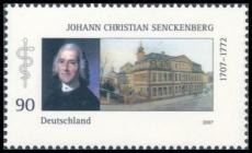 FRG MiNo. 2588 ** 300th birthday of Johann Christian Senckenberg, MNH