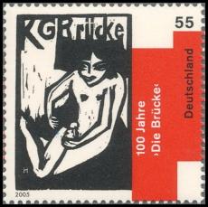 FRG MiNo. 2458 ** 100 years artists group Die Brücke, MNH
