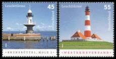 FRG MiNo. 2473-2474 set ** Lighthouses, MNH