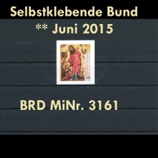 FRG MiNo. 3161 ** All self adhesives June 2015, MNH, from stamp set