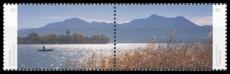 FRG MiNo. 3162/3163 ** Se-tenant printing Beautiful panoramas: Chiemsee, MNH