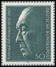 FRG MiNo. 876 ** 100th birthday of Konrad Adenauer, MNH