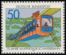 FRG MiNo. 881 ** 75 years Wuppertal monorail, MNH