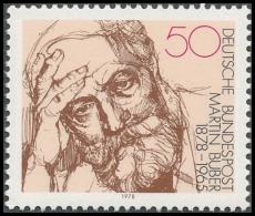 FRG MiNo. 962 ** 100th Birthday of Martin Buber, MNH