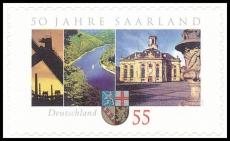 FRG MiNo. 2595 ** 50 years Saarland, MNH, self-adhesive