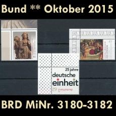 FRG MiNo. 3180-3182 ** New issues Germany October, MNH