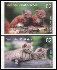 FRG MiNo. 3129-3130 set ** Animal babies (III), MNH, self-adhesive