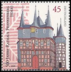 FRG MiNo. 2713 ** 500 years Frankenberg hall (Eder), MNH