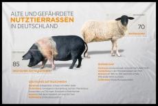 FRG MiNo. Block 81 (3261-3262) ** Old and endangered breeds, sheetlet, MNH