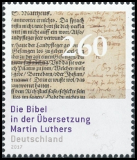 FRG MiNo. 3277 ** The Bible in the translation of Martin Luther, MNH