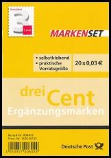 FRG MiNo. FB 24 (2967) ** Supplement value 3 ct, foil sheet, self-adhesive, MNH