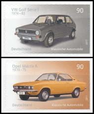 FRG MiNo. 3301-3302 set ** Classic German Automobile, MNH, self-adhesive