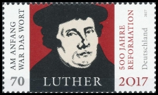 FRG MiNo. 3300 ** 500 years of Reformation (Community stamp with Brazil), MNH