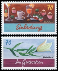FRG MiNo. 3305-3306 set ** Series Writing Mourning Commemoration Invitation, MNH