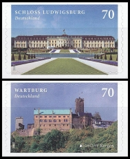 FRG MiNo. 3311-3312 Set ** Series Castles, MNH, self-adhesive