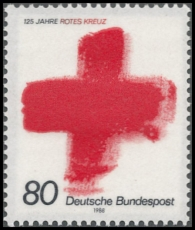 FRG MiNo. 1387 ** 125 years International Red Cross, MNH