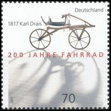 BRD MiNr. 3320 ** 200 Jahre Fahrrad - 1817 Karl Drais, postfrisch