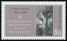 FRG MiNo. 1389 ** 50th anniversary of the Kristallnacht, MNH