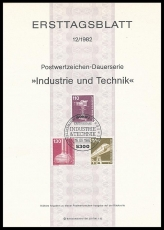 FRG MiNo. 1134-1135, 1138 FDS 12/1982 o Industry and technology (III)