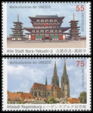 FRG MiNo. 2844-2845 set ** UNESCO World Heritage: Nara City and Regensburg, MNH