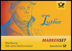 FRG MiNo. MH 107 (3300,3310) ** Luther, stamp set, wet-adhesive, MNH