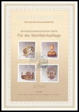 FRG MiNo. 1383-1386 set FDS 26/1988 o Welfare: gold and silver forging