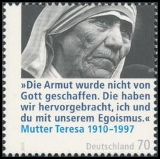 FRG MiNo. 2813 ** 100th anniversary of Mother Teresa, MNH