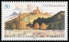 FRG MiNo. 2847 ** Two castle overlooking the Werra Valley, MNH