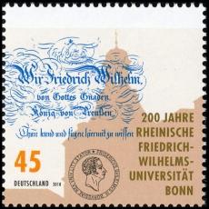 FRG MiNo. 3360 ** 200 years Friedr. Wilh. University of Bonn, MNH