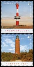FRG MiNo. 3391-3392 set ** Lighthouses: Darßer Ort & Wangerooge, MNH