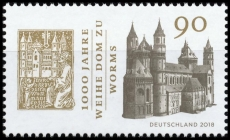 FRG MiNo. 3394 ** 1000 years consecration cathedral to Worms, MNH