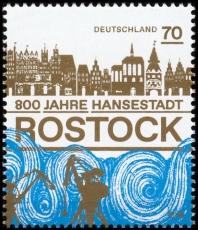 FRG MiNo. 3395 ** 800 years Hanseatic city of Rostock, MNH
