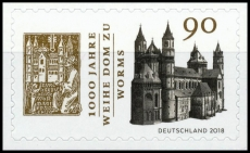FRG MiNo. 3398 ** 1000 years consecration cathedral to Worms, self-adhesive, MNH