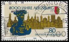 FRG MiNo. 1234 O 2000 years Augsburg, postmarked
