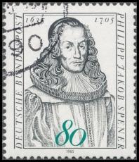 FRG MiNo. 1235 O 350th Birthday of Philipp Jakob Spener, postmarked