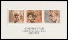 FRG MiNo. Block 16 (959-961) ** Nobel laureates of German literature, block, MNH