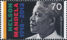 FRG MiNo. 3404 ** 100th Birthday Nelson Mandela, MNH