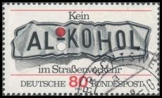 FRG MiNo. 1145 O No drinking and driving, postmarked