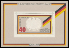 FRG MiNo. Block 10 (807) ** 25 years Federal Republic of Germany, sheetlet, MNH