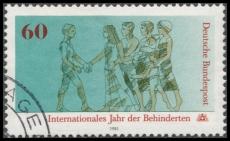 FRG MiNo. 1083 O International Year of Disabled, postmarked