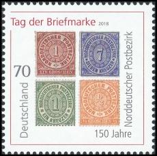 FRG MiNo. 3412 ** Stamp Day 2018: 150 years North German postal district, MNH