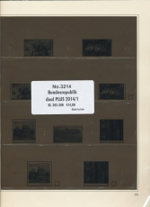 SAFE 321414/1 dual plus Supplement Federal Republic of Germany part 1 of 2014 sheet 205-208