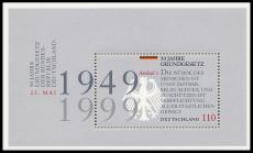 FRG MiNo. Block 48 (2050) ** 50 years of the German Basic Law, sheetlet, MNH