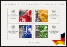 FRG MiNo. Block 49 (2051-2054) ** 50 years Federal Republic of Germany, MNH