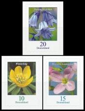 FRG MiNo. 3430-3432 set ** permanent series flowers, self-adhesive, MNH