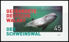 FRG MiNo. 3437 ** The porpoise - endangered German whale species, self-adh., MNH
