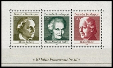 FRG MiNo. Block 05 (596-598) ** 50 years of female suffrage in Germany, MNH